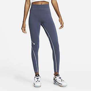 Nike Sportswear Swoosh Leggings de 7/8 y de tiro alto con gráfico para mujer