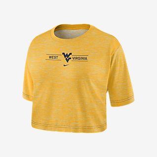Nike College Dri-FIT (West Virginia) Women's Cropped T-Shirt