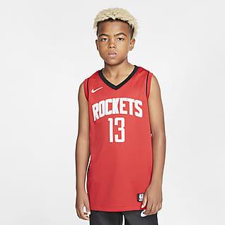 Rockets Icon Edition Koszulka dla dużych dzieci Nike NBA Swingman