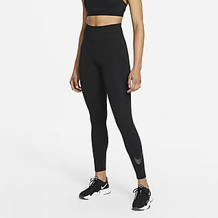 Nike One Icon Clash 7/8-legging met graphic voor dames
