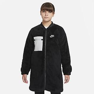 Nike Sportswear Jakke i vinterutgave til store barn (jente) (utvidet størrelse)