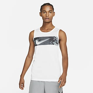 Nike Legend Trainingstanktop met Swoosh en camouflageprint voor heren