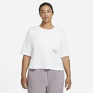 Nike Sportswear Swoosh Kortärmad topp för kvinnor (Plus size)