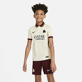 AS Roma de visitante Stadium 2020/21 Camiseta de fútbol para niños talla grande