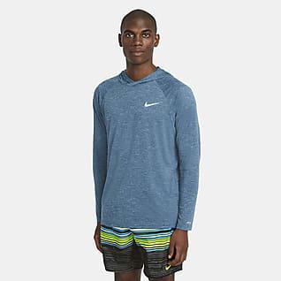 Nike Men's Long-Sleeve Hooded Hydroguard Swim Shirt
