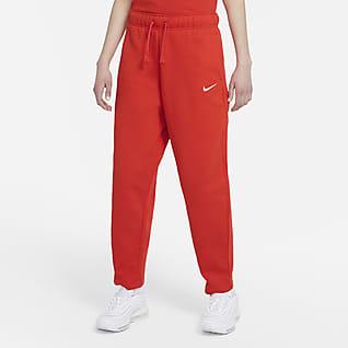 Nike Sportswear Collection Essentials Pantalones con curvas de tejido Fleece para mujer
