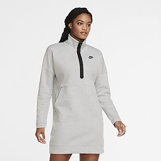 Nike Sportswear Tech Fleece 女款半長式拉鍊洋裝