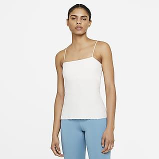 Nike Yoga Luxe Eyelet Canotta con bra integrato - Donna