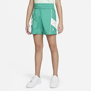 Nike Sportswear Heritage Shorts de tejido Woven para niña talla grande