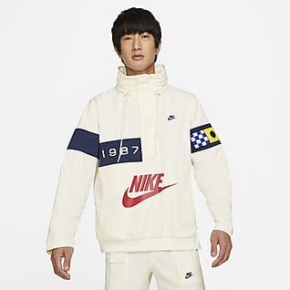 Nike Sportswear Reissue เสื้อแจ็คเก็ต Walliwaw ผู้ชายแบบทอ