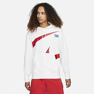 Nike Sportswear Swoosh Sudadera con gorro sin cierre semicepillada en la parte interior para hombre
