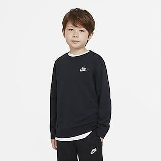 Nike Sportswear Jongensshirt van sweatstof met ronde hals
