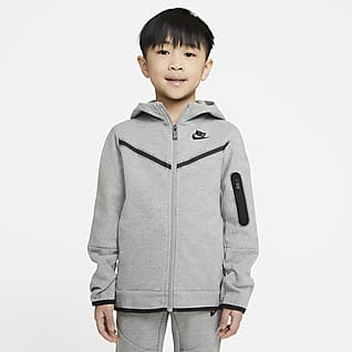 Nike Sportswear Tech Fleece Sudadera con capucha de cierre completo para niños talla pequeña