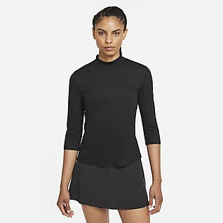 Nike Dri-FIT UV Ace Женская футболка с воротником-стойкой для гольфа