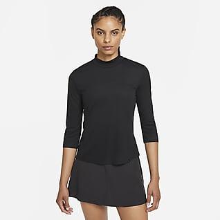 Nike Dri-FIT UV Ace Golfoberteil mit Stehkragen für Damen