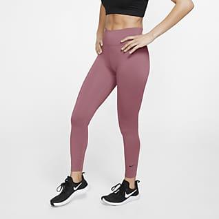 Nike One 7/8-Tights mit mittelhohem Bund für Damen