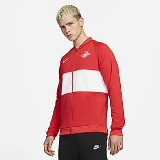 Spartak Moscow Мужская футбольная куртка с молнией во всю длину