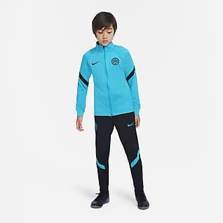 Inter Milan Strike Pleteninová fotbalová souprava Nike Dri-FIT pro větší děti