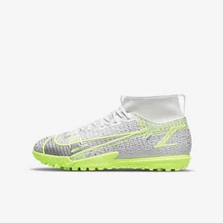 Nike Jr. Mercurial Superfly 8 Academy TF Botas de fútbol para moqueta - Turf artificial - Niño/a y niño/a pequeño/a