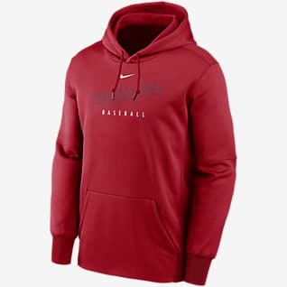 Nike Therma Outline Wordmark (MLB Washington Nationals) Men's Pullover Hoodie