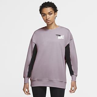Nike Dri-FIT Get Fit Sudadera de entrenamiento estampado de tejido Fleece para mujer