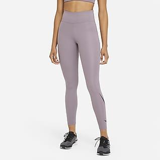 Nike Swoosh Run เลกกิ้งวิ่งเอวปานกลาง 7/8 ส่วนผู้หญิง