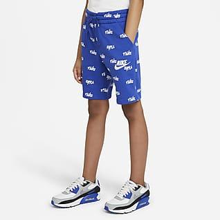 Nike Sportswear Big Kids' (Boys') Fleece Printed Shorts