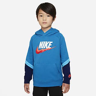 Nike Sudadera con capucha sin cierre para niños talla pequeña