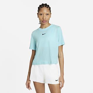 NikeCourt Advantage Kortärmad tenniströja för kvinnor