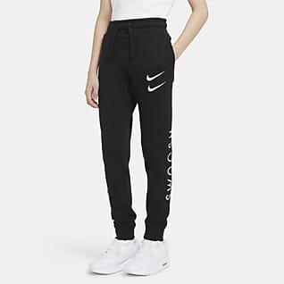 Nike Sportswear Swoosh Bukse til store barn (gutt)