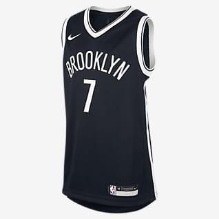 Nets Icon Edition Nike NBA-Swingman-Trikot für ältere Kinder