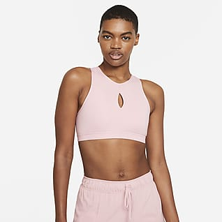 Nike Yoga Dri-FIT Swoosh Women's Medium-Support Non-Padded High-Neck Sports Bra