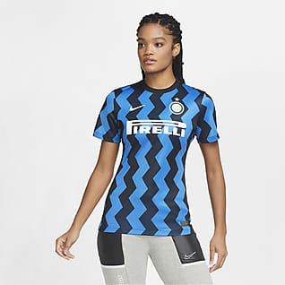 Inter Milan 2020/21 Stadium Home Fodboldtrøje til kvinder