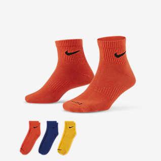 Nike Everyday Plus Lightweight No-Show Meias de treino pelo tornozelo (3 pares)