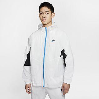 Nike Sportswear Heritage Windrunner เสื้อแจ็คเก็ตผู้ชายแบบทอ