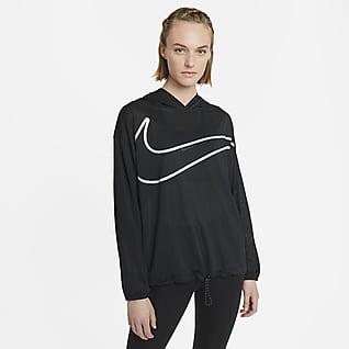 Nike Pro Collection Sudadera con gorro y gráfico para mujer