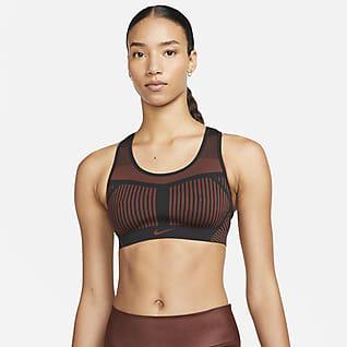Nike FE/NOM Flyknit Ungepolsterter Sport-BH mit starkem Halt für Damen