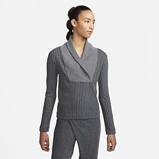 Nike Yoga Luxe Ribbad tröja för kvinnor