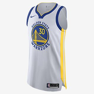 金州勇士队 (Stephen Curry) Association Edition Nike NBA Authentic Jersey 男子球衣