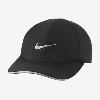 Nike Dri-FIT Aerobill Featherlight หมวกแก๊ปวิ่งแบบเจาะรูระบายอากาศ