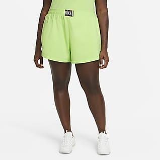 Nike Sportswear Calções com efeito lavado para mulher (tamanhos grandes)