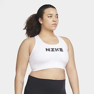 Nike Victory Icon Clash Dámská sportovní podprsenka se střední oporou (větší velikost)