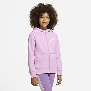 Nike Sportswear Hosszú cipzáras, kapucnis pulóver lányoknak