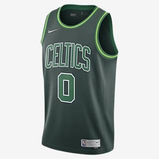 Jayson Tatum Celtics Earned Edition Camiseta Nike NBA Swingman para hombre