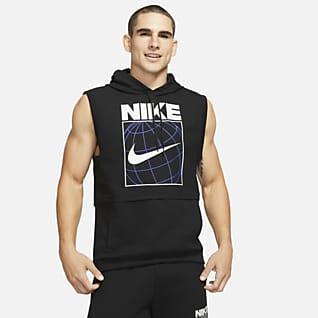 Nike Dri-FIT Kolsuz Grafikli Erkek Antrenman Kapüşonlu Üstü