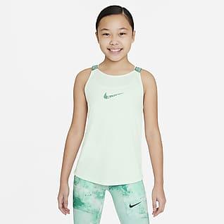 Nike Dri-FIT Elastika Koszulka treningowa bez rękawów dla dużych dzieci (dziewcząt)