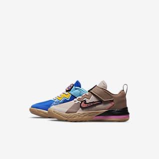 LeBron 18 Low 'Wile E. vs Roadrunner' Younger Kids' Shoe
