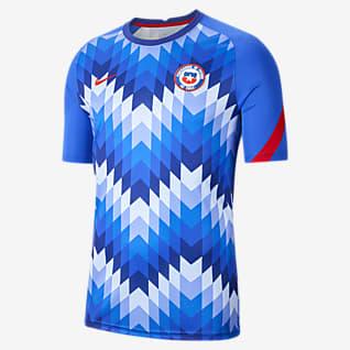 Chile Camiseta de fútbol de manga corta para hombre