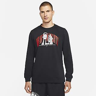 Nike Dri-FIT Kerek nyakkivágású, mintás férfi edzőfelső