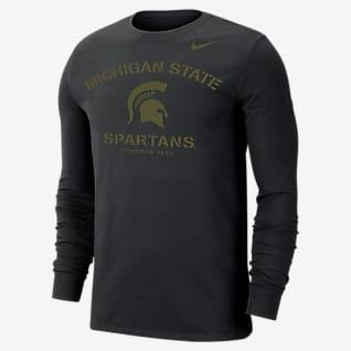 Nike College Dri-FIT (Michigan State) Men's Long-Sleeve T-Shirt